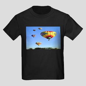 Hot Air Balloons Kids Dark T-Shirt