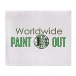 IPAP WORLDWIDE Paint Out Throw Blanket