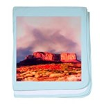 Monument Valley Storm baby blanket