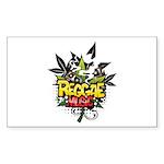 Reggae music Sticker (Rectangle 10 pk)