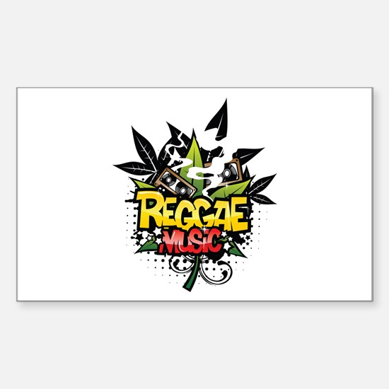 Reggae music Sticker (Rectangle)