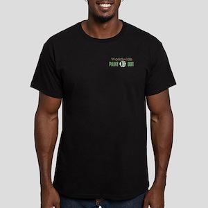 IPAP WORLDWIDE Paint O Men's Fitted T-Shirt (dark)