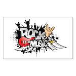 Rock music Sticker (Rectangle)