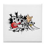 Rock music Tile Coaster