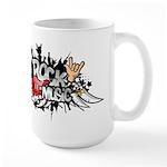 Rock music Large Mug
