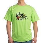 Rock music Green T-Shirt