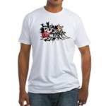 Rock music Fitted T-Shirt