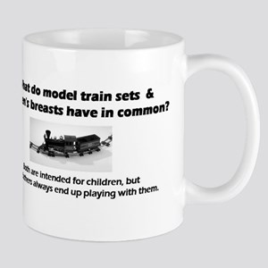 Model Trains & Breasts? Mug