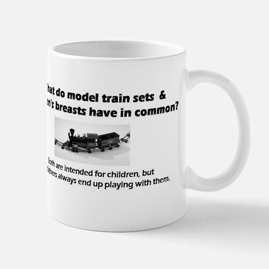 Model Trains & Breasts? Mug