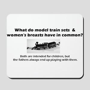 Model Trains & Breasts? Mousepad