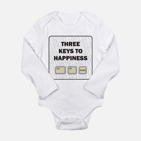 Happiness Long Sleeve Infant Bodysuit