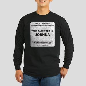 Password Long Sleeve Dark T-Shirt