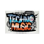 Techno music Rectangle Magnet (10 pack)