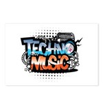 Techno music Postcards (Package of 8)