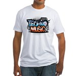 Techno music Fitted T-Shirt