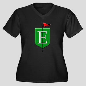 Epworth Heights Women's Plus Size V-Neck Dark T-Sh