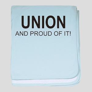 Proud Union baby blanket