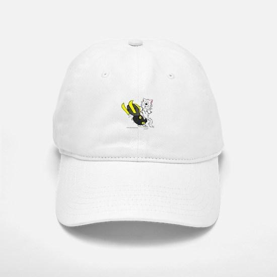 Snowmobile Cat in Color Yello Hat
