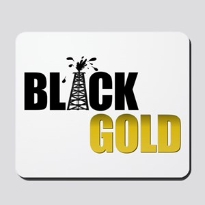 Black Gold Oil Mousepad
