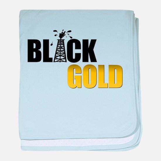 Black Gold Oil baby blanket