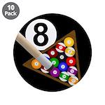 """8-Ball 3.5"""" Button (10 pack)"""