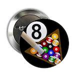 """8 ball 2.25"""" Button"""