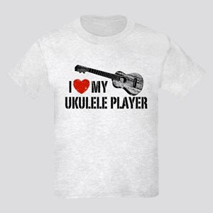I Love My Ukulele Player Kids Light T-Shirt
