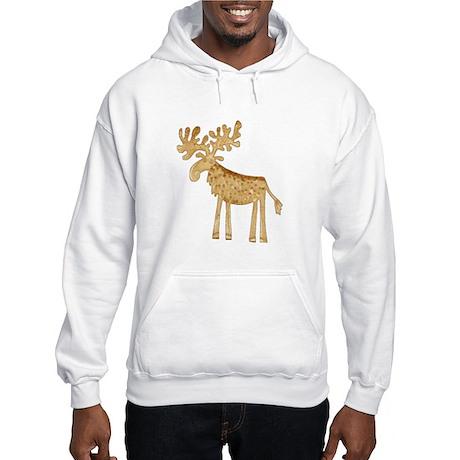 Holiday Moose Hooded Sweatshirt