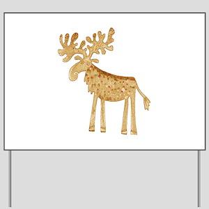 Holiday Moose Yard Sign