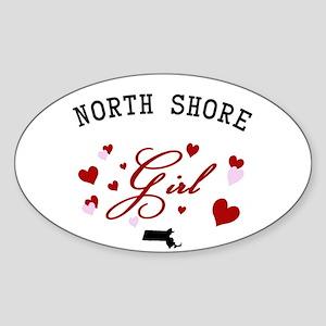 North Shore Girl Sticker (Oval)