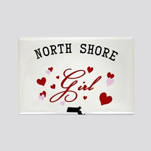 North Shore Girl Rectangle Magnet