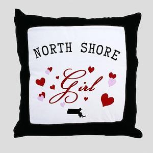 North Shore Girl Throw Pillow