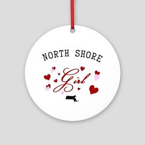 North Shore Girl Ornament (Round)