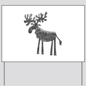 Silver Moose Yard Sign