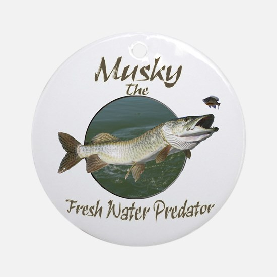 Musky,Predator Ornament (Round)