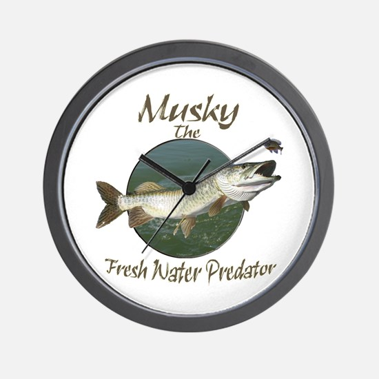 Musky,Predator Wall Clock