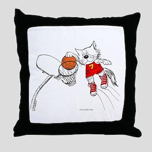 Basketball Cat Throw Pillow