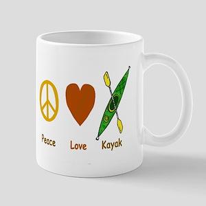 Peace,Luv,Kayak Mug