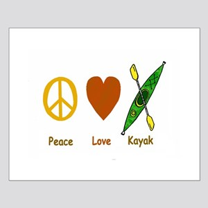 Peace,Luv,Kayak Small Poster
