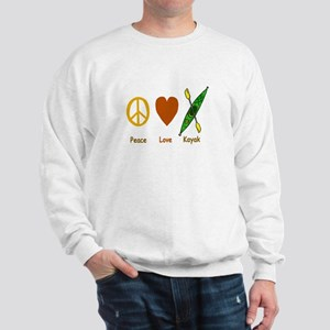 Peace,Luv,Kayak Sweatshirt