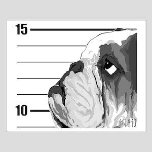 Black Bulldog Small Poster