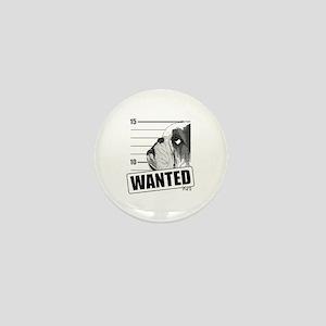 Black Bulldog Wanted Mini Button