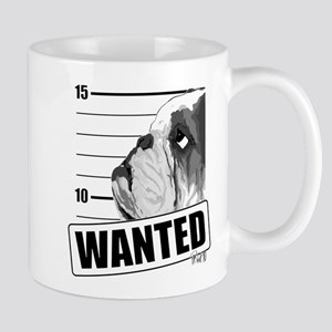 Black Bulldog Wanted Mug