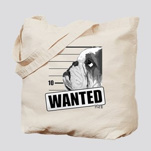 Black Bulldog Wanted Tote Bag
