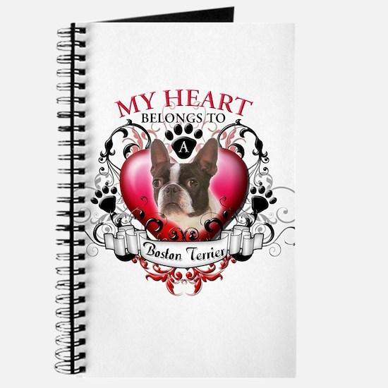 My Heart Belongs to a Boston Terrier Journal
