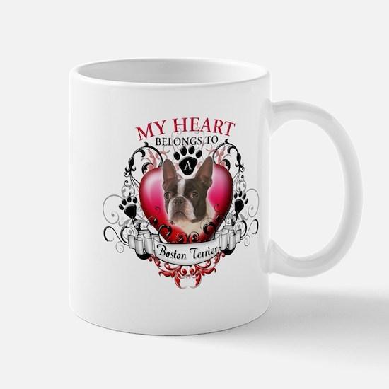 My Heart Belongs to a Boston Terrier Mug