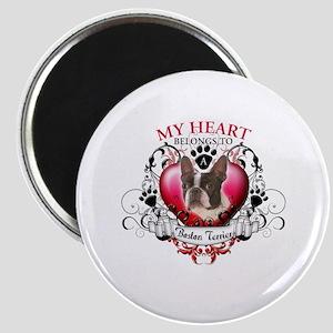 My Heart Belongs to a Boston Terrier Magnet