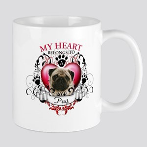 My Heart Belongs to a Pug Mug