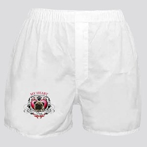 My Heart Belongs to a Pug Boxer Shorts