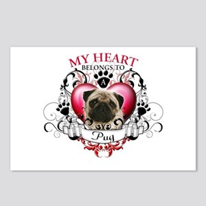My Heart Belongs to a Pug Postcards (Package of 8)